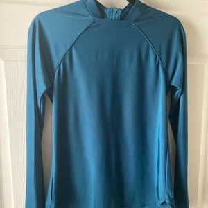 All in Motion Back Zip Athletic Top Large New